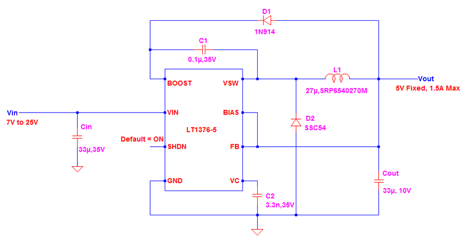 Switching Converter Power Supplies - Daycounter