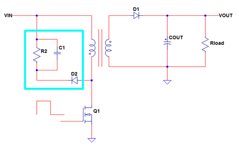flyback converter with RCD clamp